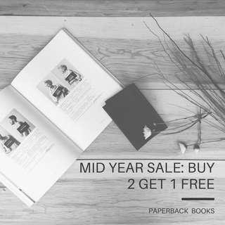 Buy 2 Get 1 Free Mid Year Sale: Books [Paperback/Softcover]