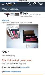 smashbox spring edit eyes +lips