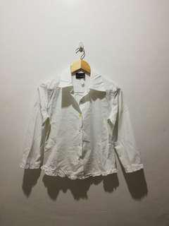 ANXIETY white long sleeve blouse
