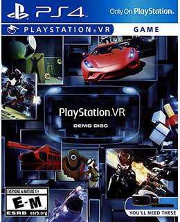 PlayStation VR Demo Disc