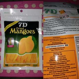 全新  菲律賓特產7D芒果乾