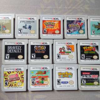 Games for Nintendo 3ds / 2ds ----- For Sale or Swapping 3 games per 1 Nintendo Switch game