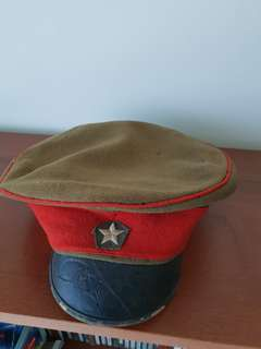Vintage WW2 Imperial Japanese Army officer's Mr. TOMIZAWA peaked cap