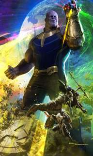 THANOS AND BLACK ORDER poster