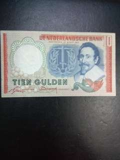 Netherlands 10 Gulden 1953 issue