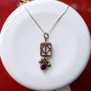 Art-deco inspired pendant