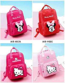 MINNIE MOUSE AND HELLO KITTY BACKPACK
