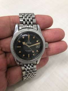 古董鐵達時潛水自動手錶 Titus Calypsomatic 7986, 靚灰色片