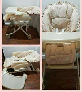 5 in 1 high chair-bed
