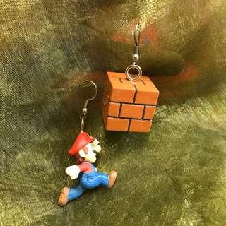 手作飾品- mario耳環 $48
