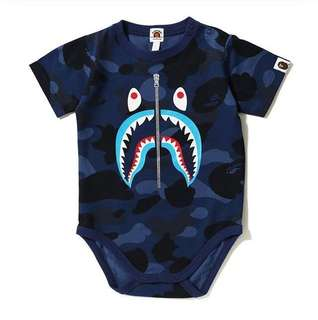 BAPE COLOR CAMO SHARK BABYSUIT