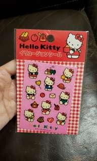 全新 Sanrio Hello Kitty 貼紙 1992 stickers made in Japan