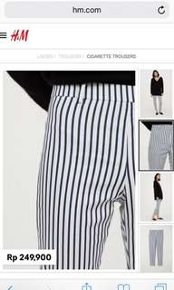 H&M stripe pants