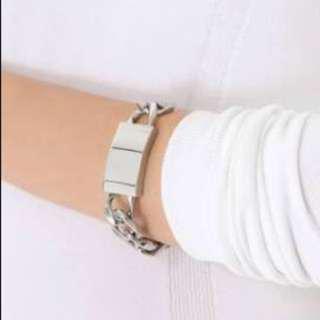 Nicolas The Label Silver Chunky ID Bracelet