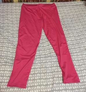 Pink leggings good for zumba fits large