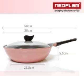 🚚 韓國NEOFLAM Aeni系列 28cm陶瓷不沾炒鍋7、8成新『無鍋蓋』