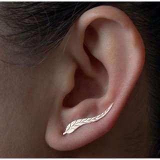 2 Pairs Leaf Earrings