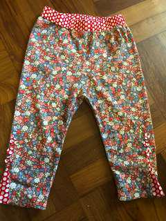 Oobi soft pants/tights for little girls - size 0/1Y