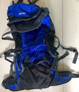 Large Camping Backpack with Rain Cover