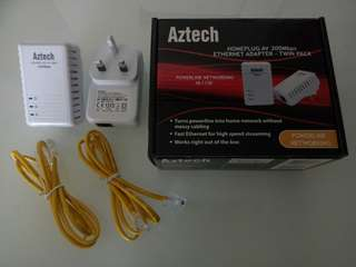 Aztech Homeplug AV 200Mbps Ethernet Adapter
