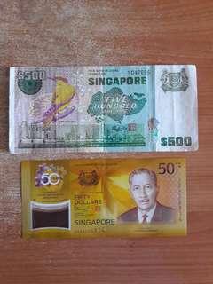 Singapore Bird Series $500 + $ 50