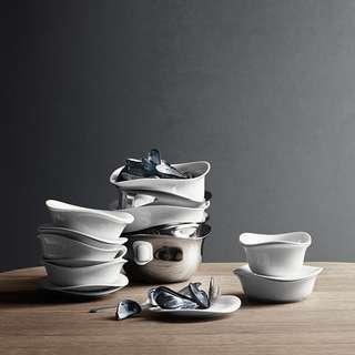 🚚 Georg Jensen 喬治傑生 婀娜 白瓷餐具系列 點心餐盤 / 餐包點心盤