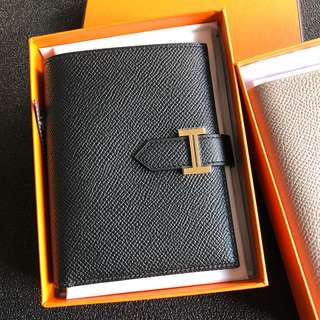Hermes Bearn Short Wallet 黑金 epsom c刻
