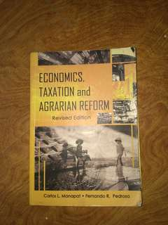 Economics, Taxation and Agrarian Reform