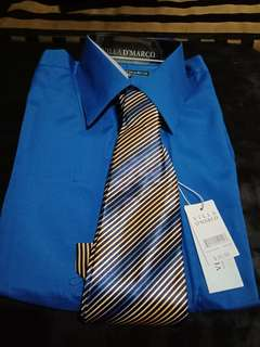Longsleeve Polo with Necktie