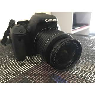DSLR Canon 600D with EF-S 18-55mm IS II lens 32gb SD card