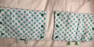 Reversible drool pads