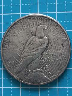 USA Peace Silver Coin One Dollar Year 1926