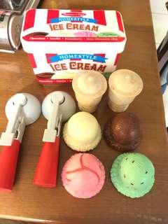 🚚 美國 Melissa & Doug 木製玩食趣 - 冰淇淋甜筒組