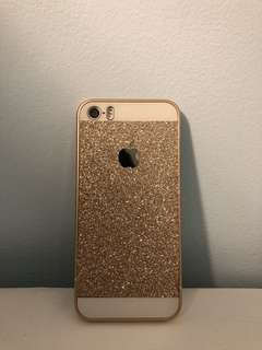 Iphone 5/5s Gold Sparkle Case