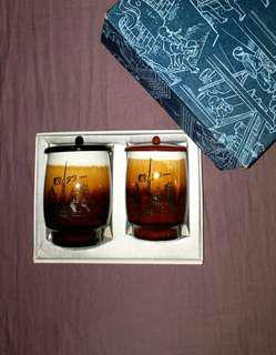 日本手繪工藝杯 1套2隻連蓋