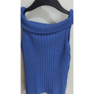 Knitted off shoulder top
