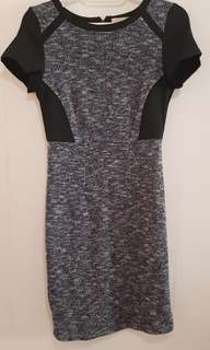 CLN Black and Navy blue Tweed shift dress
