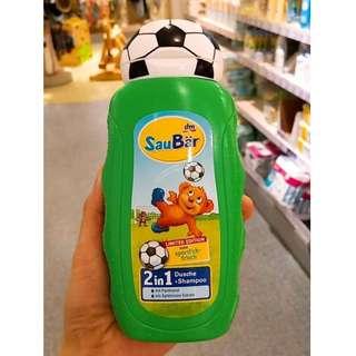🌸先搶先贏世界盃足球限量款德國SauBär兒童2合一沐浴+洗髮一瓶搞定 The first to win the World Cup soccer limited edition Germany SauBär children 2 in one bath + shampoo a bottle to get