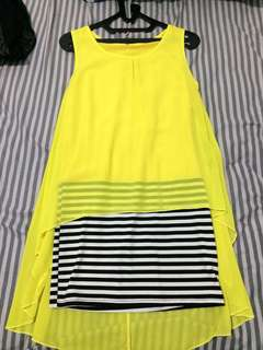 PRELOVED YELLOW DRESS WITH STRIPES