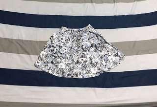 🚚 夏季印花復古傘狀裙