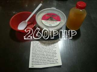 Aztec healing clay with apple cider and mini mixing bowl with spoon