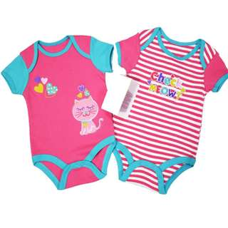 2 in 1 CHECK MEOWT Romper Set (GIRL)