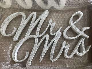 Wedding Mr & Mrs Decoration