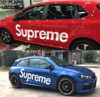 supreme car stickers