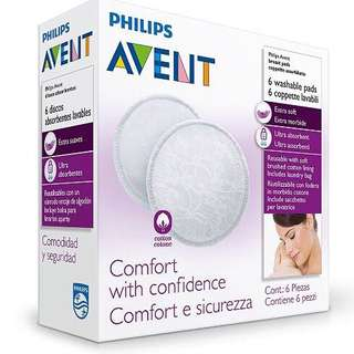 (Ready Stock) Avent Washable Breast Pads 6pcs (include laundry bag)
