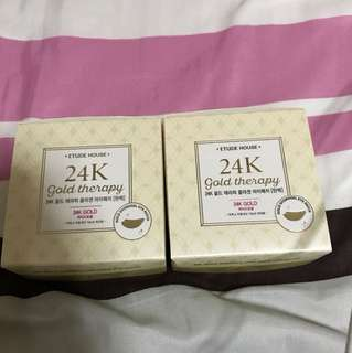 Etude house 24k gold therapy eye mask
