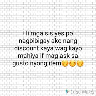 Giving discount