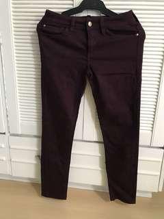Mango Maroon Jeans