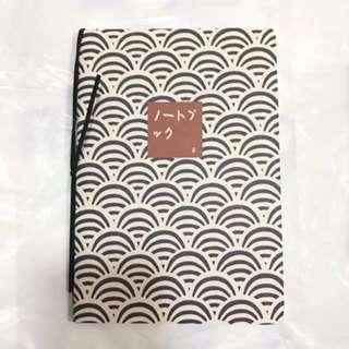 BNIP Black A5 Japanese Waves Lined Line Notebook Journal Diary Planner #HariRaya35