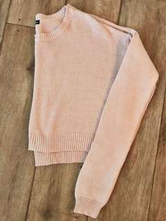 Pale Pink Cropped Knit Size M